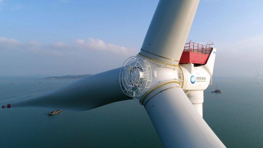 offshore wind turbine renewable energy turbine blades ocean
