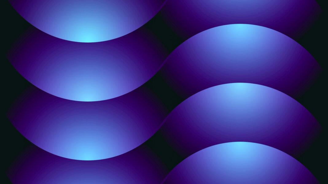 tech stories blue light patterns half circles black background