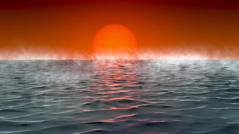 hycean exoplanet ocean red dwarf search for life