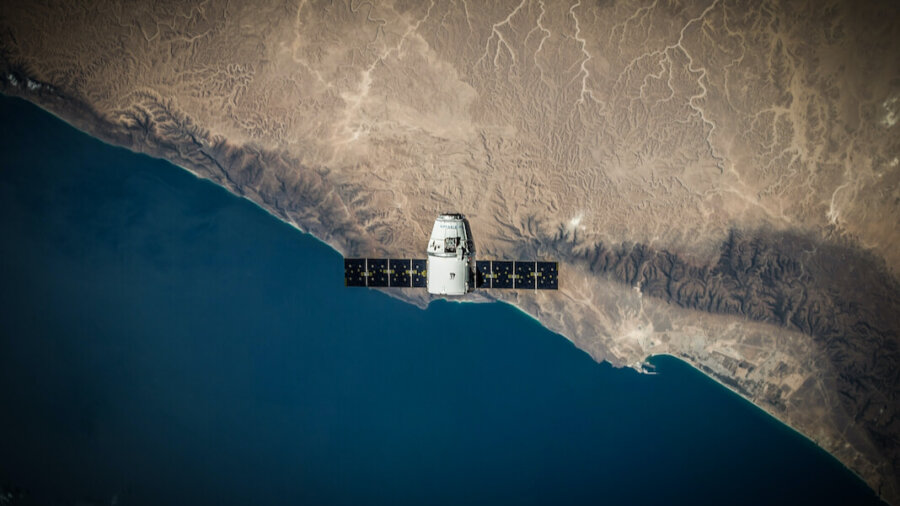 tech stories spacex satellite over coast