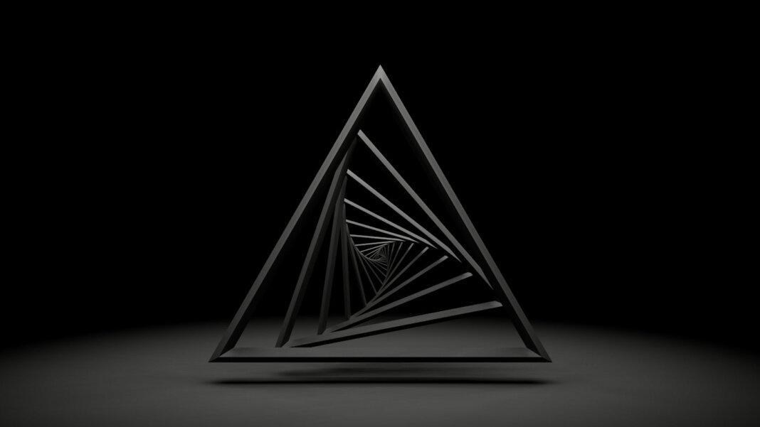 tech stories triangle grey vanishing point