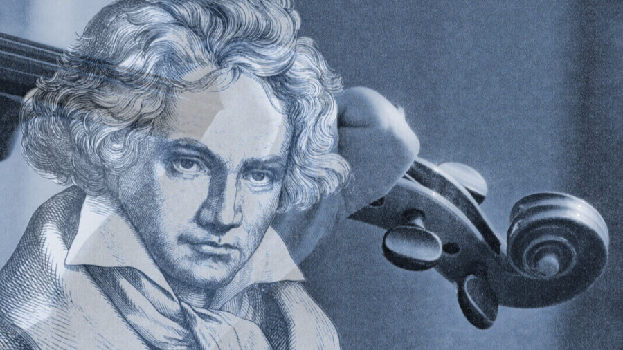 AI completing beethoven's 10th symphony violinist playing with beethoven